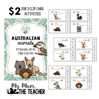 http://designedbyteachers.com.au/marketplace/australian-animal-friends-of-ten-clip-cards/