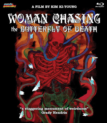 Blu-ray cover for Mondo Macabro's WOMAN CHASIN THE BUTTERFLY OF DEATH Blu-ray!