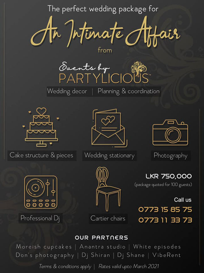 The perfect wedding package for An Intimate Affair