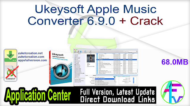 Ukeysoft Apple Music Converter 6.9.0 + Crack
