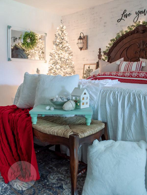 Christmas bedroom twinkle lights