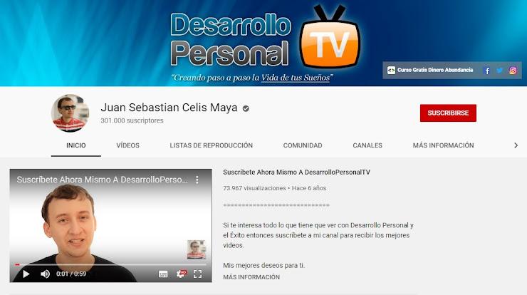 Canal de Sebastian Celis en Youtube