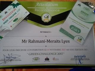 Green challenge Casablanca Maroc 2016 Membre du Jury
