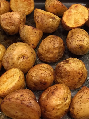 Smoked Paprika Roasted New Potatoes straight out of the oven