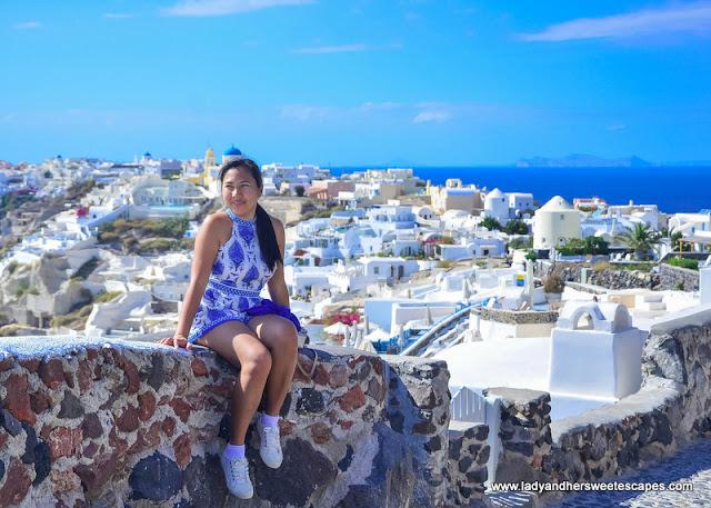 Lady in Oia Santorini