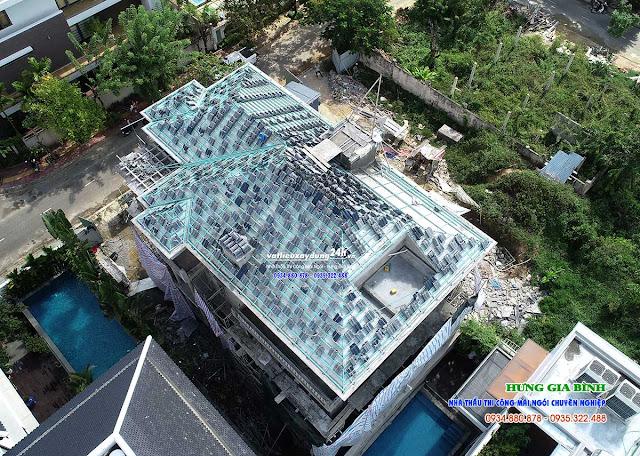 Thi công mái ngói trọn gói tại Đà Nẵng