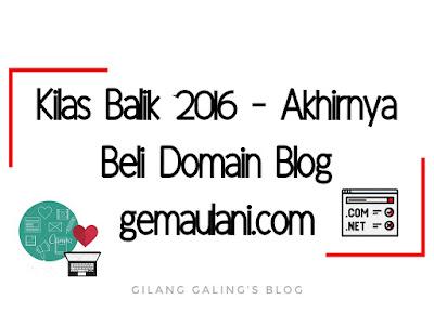 akhirnya beli domain blog