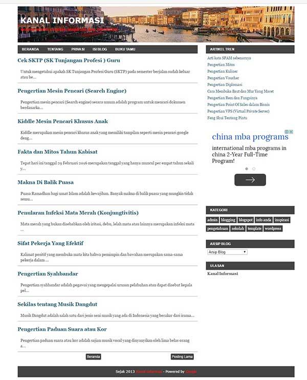 Mengganti Nama Domain dan tampilan Blogspot
