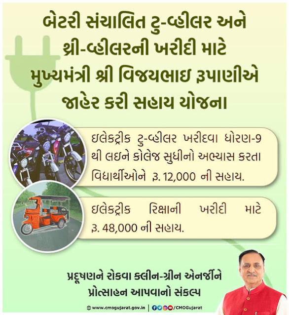 Electric Two-Wheeler Scheme Gujarat Registration