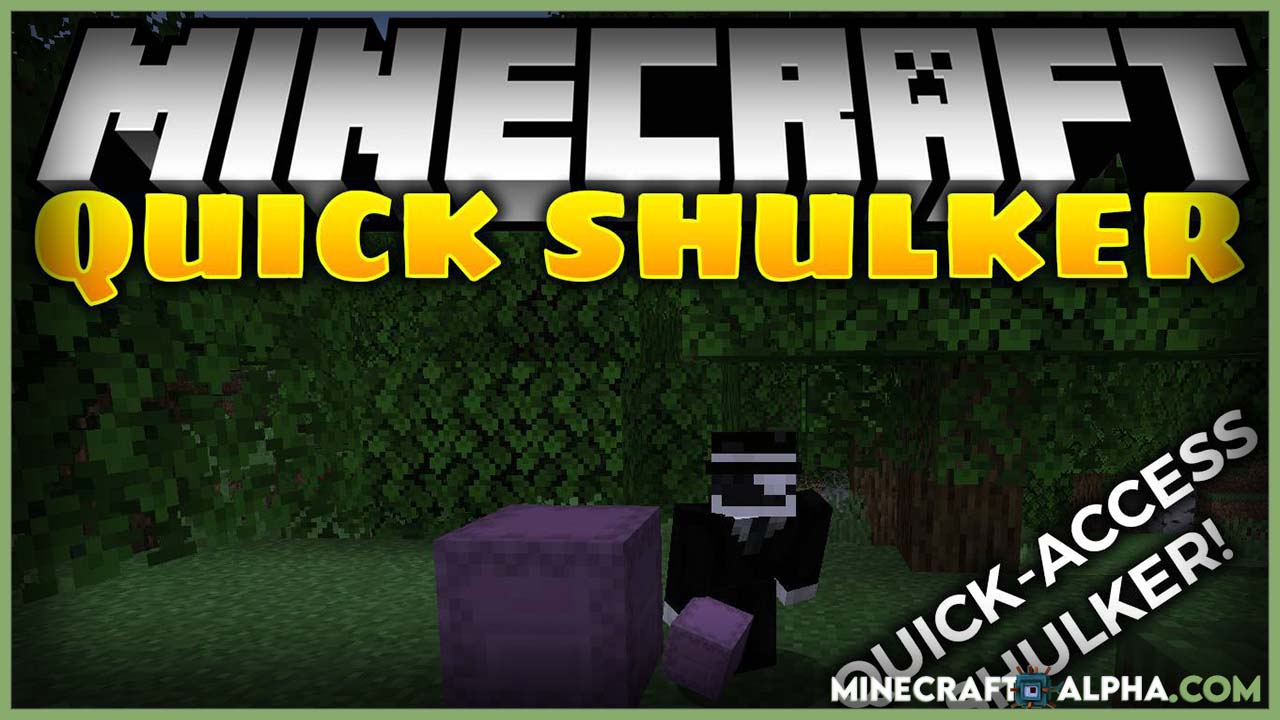 Minecraft Quick Shulker Mod For 1.17.1 To 1.16.5 (One Click Open)