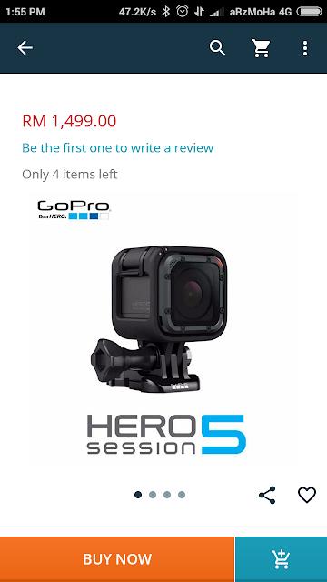 kelebihan go pro hero5 session, go pro hero 5 session, 5 jenis barang yang diimpikan di lazada 2017,