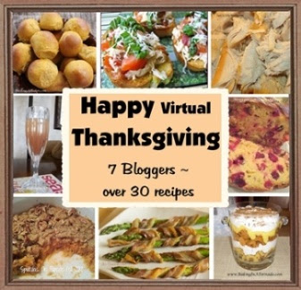 Happy Virtual Thanksgiving | graphic designed by and property of www.BakingInATornado.com | #MyGraphics