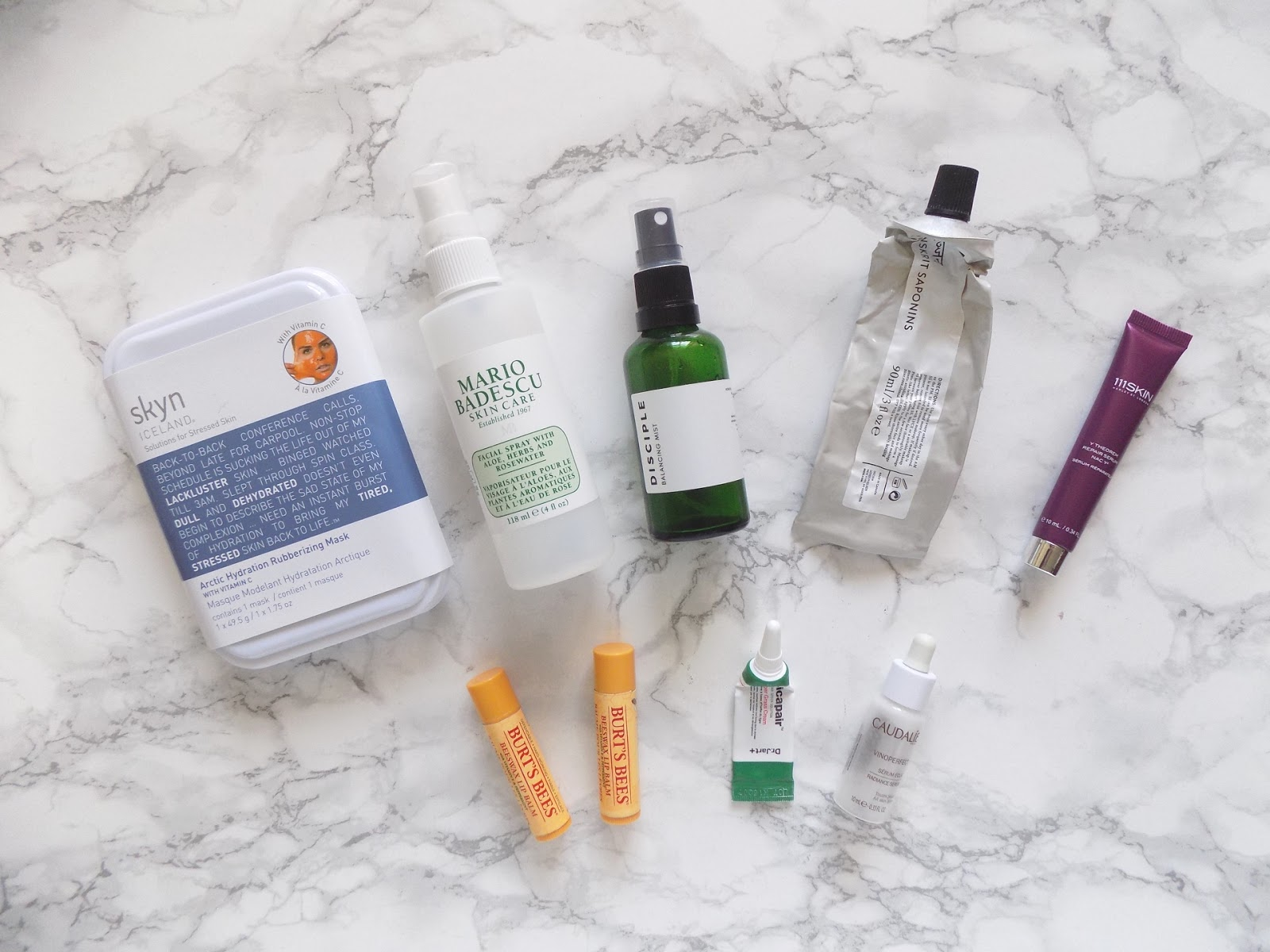 skincare empties niod disciple Mario badescu review