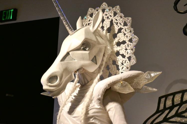 Masked Singer Unicorn costume mask