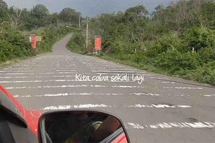 Gravity Hill, Efek Anti Gravitasi di Gunung Kelud, Indonesia