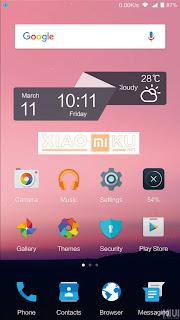 tampilan theme android nougat xiaomi