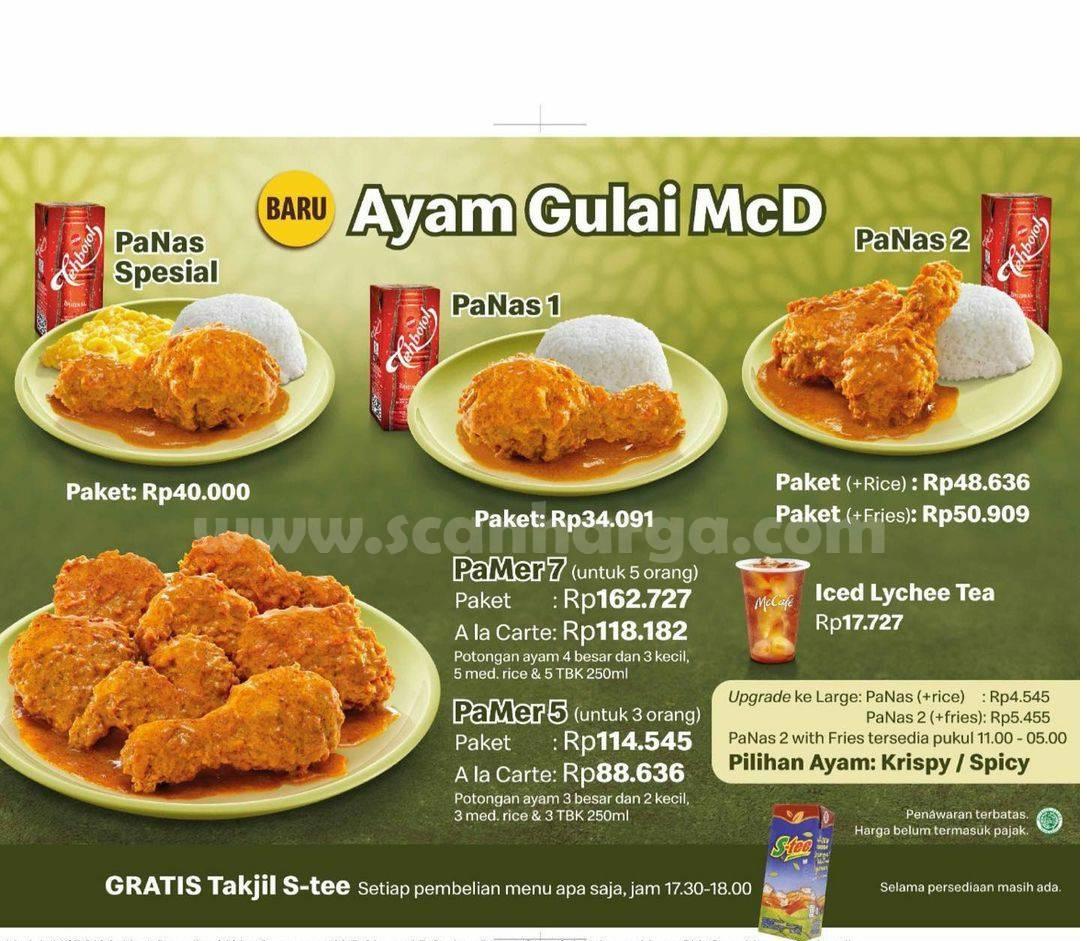 McDonalds Promo Harga AYAM GULAI McD 2