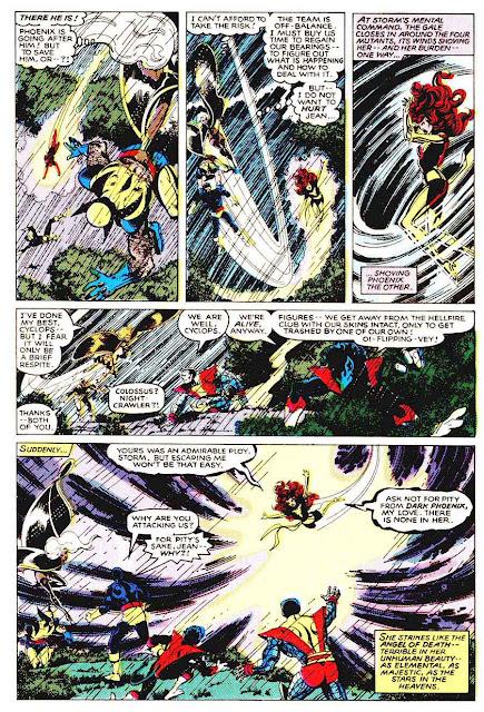 X-men v1 #135 marvel comic book page art by John Byrne