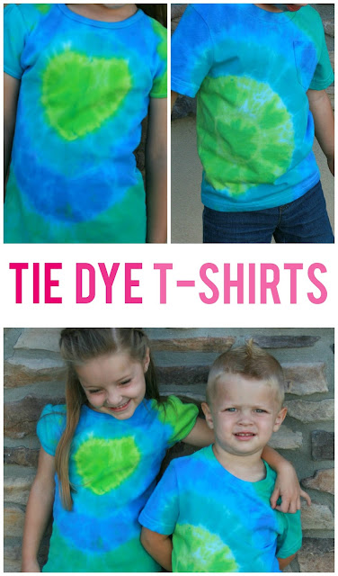 What says summer more than tie dye t-shirts?  See how easy it is and create some fun memories with your kids!