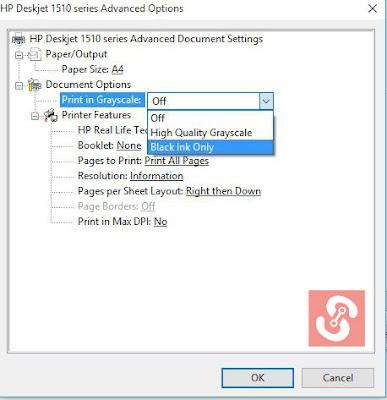 Cara Print File Berwarna Menjadi Hitam Putih