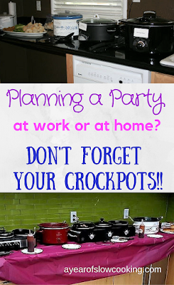 Planning parties around your crockpot is a wonderful way to get your buffet table up and running with very little hands-on needed. This is such a great way to entertain so you can TRULY ENJOY YOUR GUESTS!! :-)