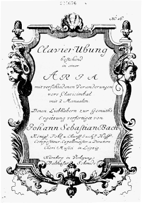 Title page of the Goldberg Variations (first edition, 1741)