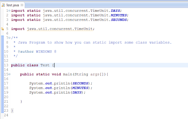 importing static variable in Java in Eclipse