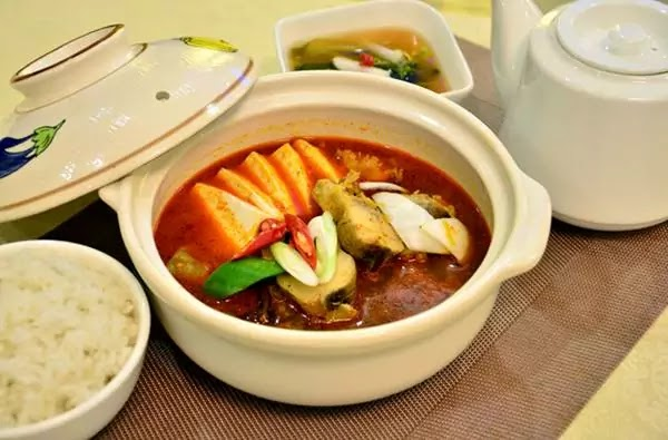 Walleye pollack peppery soup