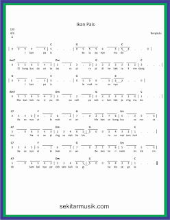 not angka ikan pais lagu daerah bengkulu