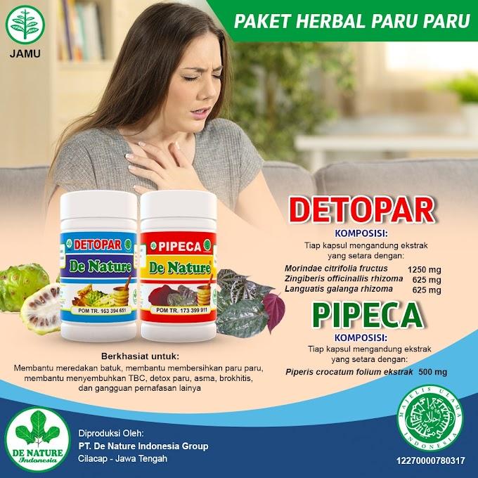 Paket Herbal Paru-paru Detopar Pipeca De Nature. Bisa COD Seluruh Indonesia