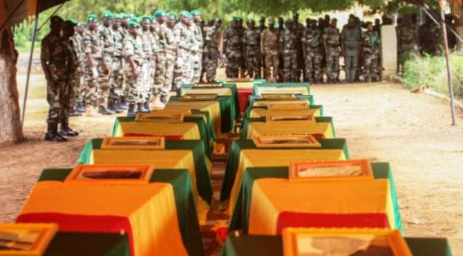 Coffins of Malian army officers killed in an attack are displayed on July 21, 2016 in Segou during a funeral ceremony. By Anythony Fouchard (AFP/File) Bamako (AFP) - Lawmakers in Mali agreed Saturday to extend a 10-day state of emergency in the violence-wracked country by another eight months, officials told AFP.