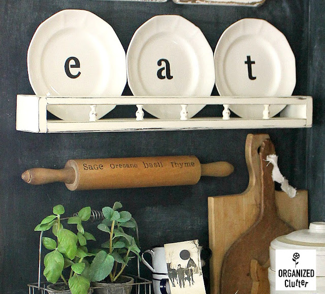 Farmhouse Style Kitchen & Kitchen Wares #vintage #kitchenware #rollingpins #stencils #enamelware #stoneware #ironstone #herbs