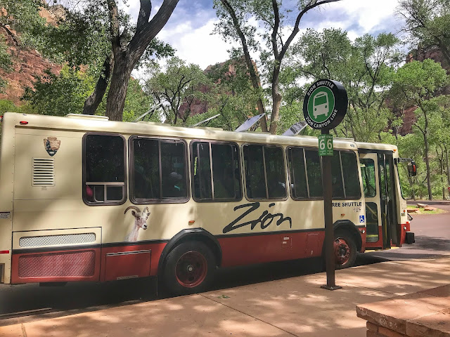 Zion National park Shuttle bus