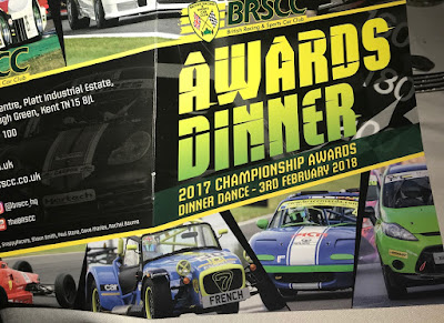 My 2017 Caterham Academy Car on the front cover of the BRSCC Awards Dinner Programme