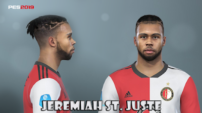 PES 2019 Faces Jeremiah St. Juste by Prince Hamiz