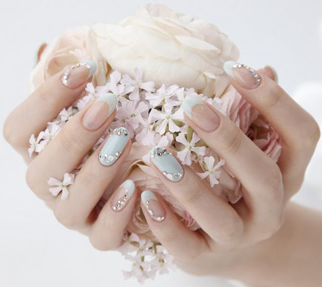 26 Impossible Japanese Nail Art Designs: Trend Alert: Tarashikomi Nail Art
