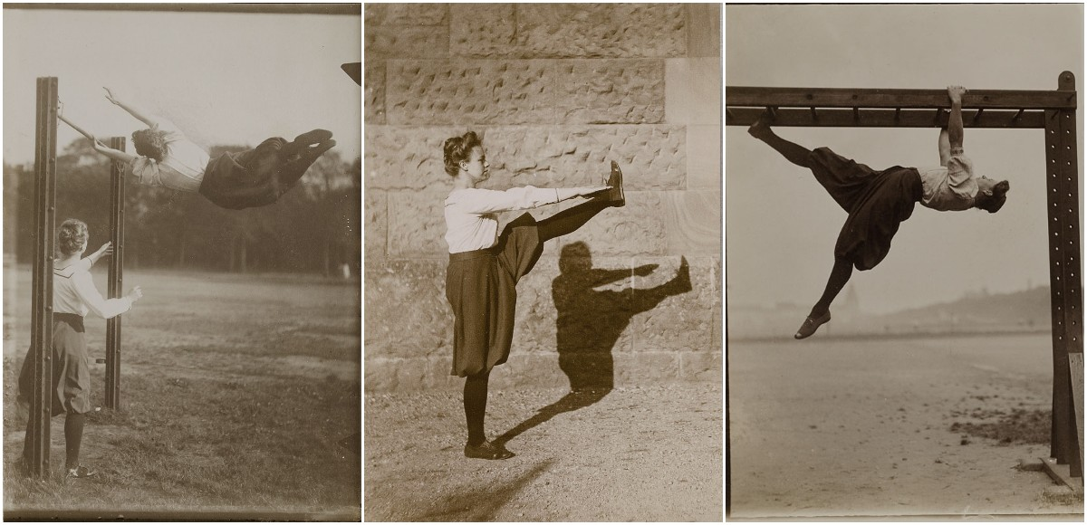 Vintage Photographs Show German Women Practicing Swedish Gymnastics in Hamburg From the Early 20th Century