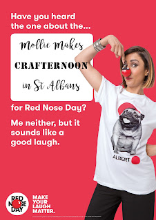 Fickle Craftroom / Mollie Makes Crafternoon in St Albans, in aid of Comic Relief 2017