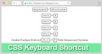 Membuat Button CSS Keyboard Shortcut Di Blogger