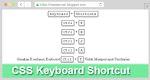 Membuat Button CSS Keyboard Shortcut Di Blogger