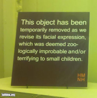 museum exhibit removed terrifying to small children