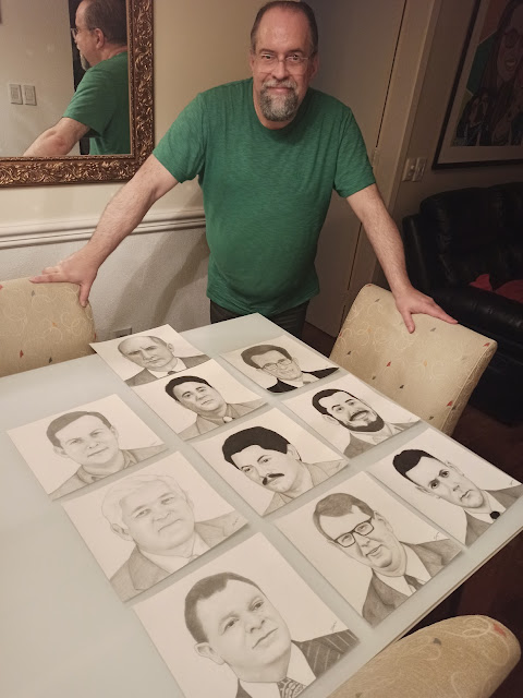 Marcelo Lopes de Lopes e sua arte à crayon