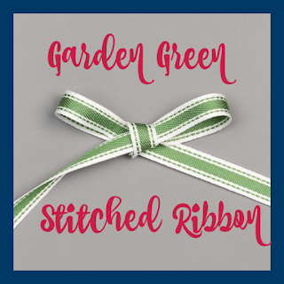 Stampin' Up!'s Garden Green Stitched Ribbon