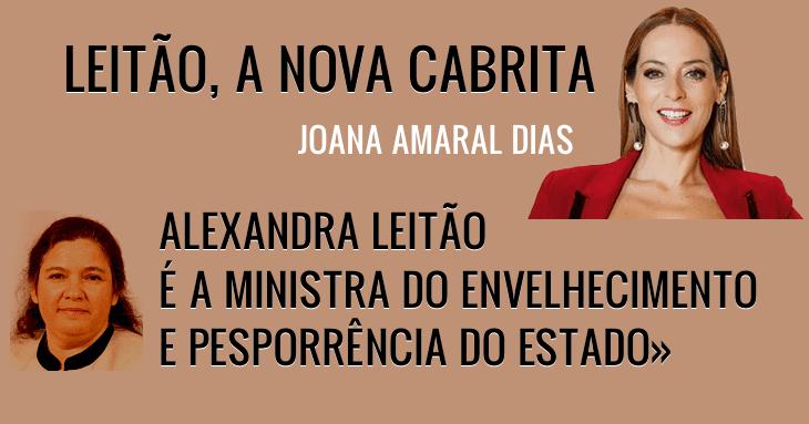 «Alexandra Leitão, ministra do Envelhecimento e Pesporrência do Estado»