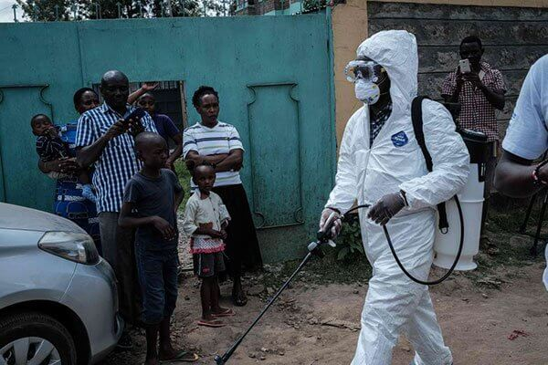 Fumigation at the Nairobi CBD