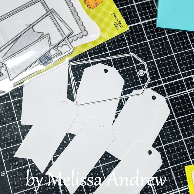 Birthday Tags by Guest Designer Melissa Andrew   Frames & Flags Die Set by Newton's Nook Designs #newtonsnook