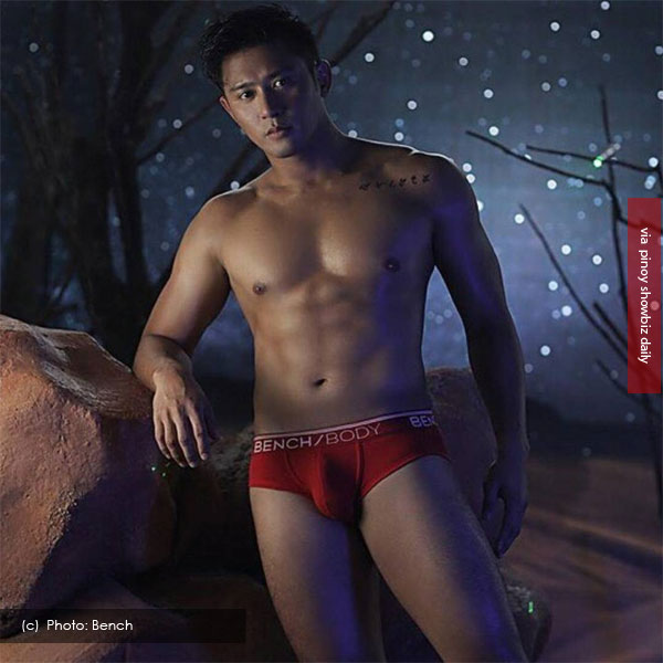 Rocco Nacino strips down in red undies for Bench