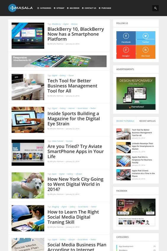 Masala Bloglist Template