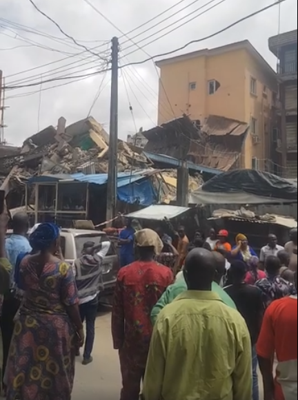 PHOTOS: Another Storey Building Collapses In Lagos