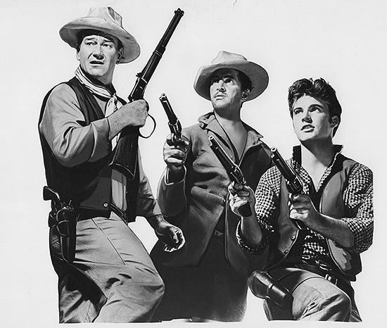 John Wayne, Dean Martin y Ricky Nelson